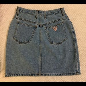 Guess Classic Vintage Denim High Rise Jean Skirt
